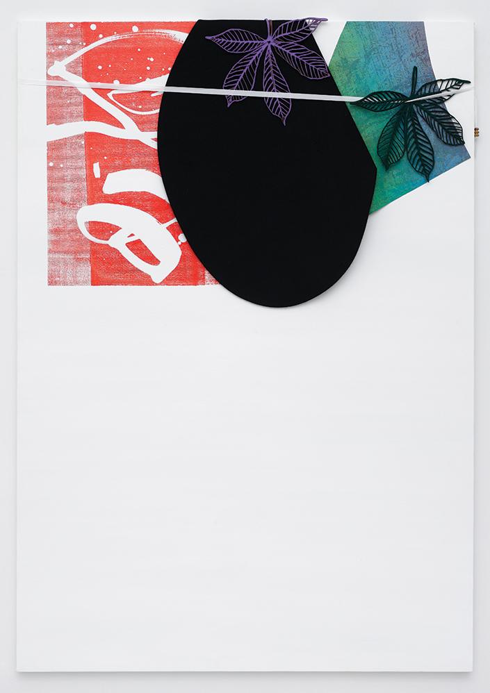 Blake Rayne Untitled, 2010 Vinyl, polyester, synthetic felt, acrylic on canvas