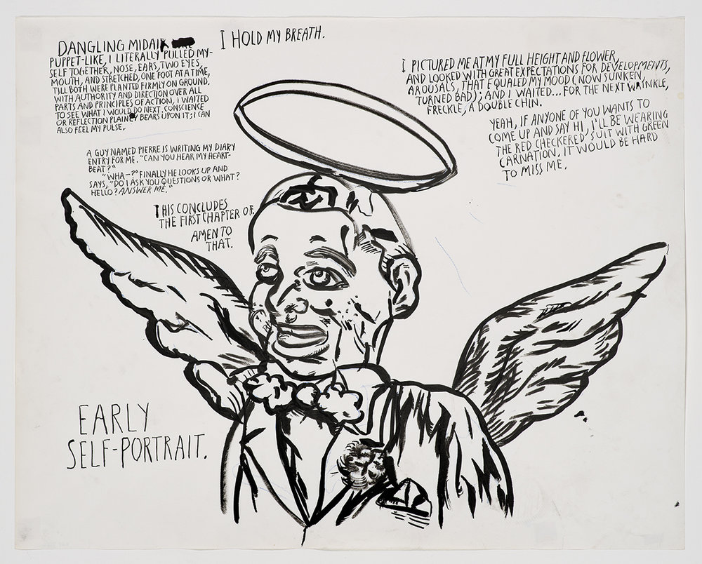Raymond Pettibon Dangling mid-air, I hold my Breath, 2012  Courtesy of the artist and Regen Projects