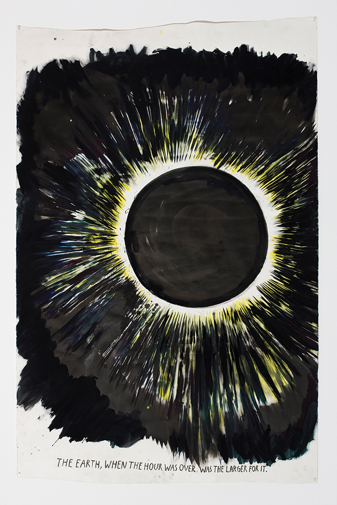 Raymond Pettibon The Earth, When the hour was over, 2012  Courtesy of the artist and Regen Projects