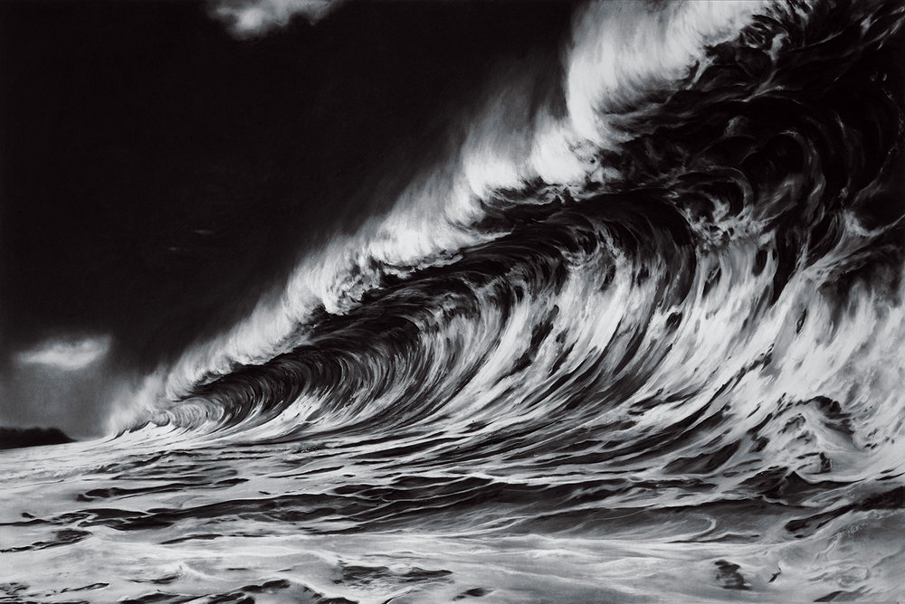 Robert Longo Red Sea Charcoal on stretched paper 70 x 120 inches Courtesy of the artist and Metro Pictures Gallery