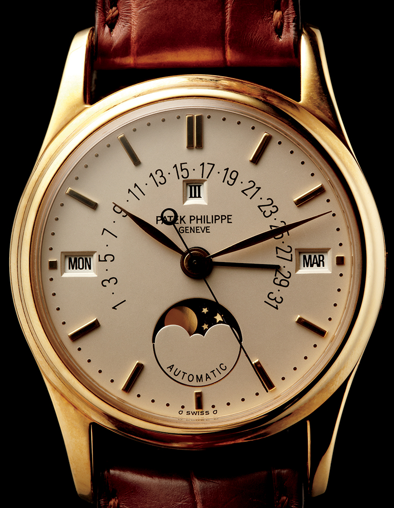 Patek Philippe 5050 perpetual calendar in yellow gold, 1995, available through Man of the World