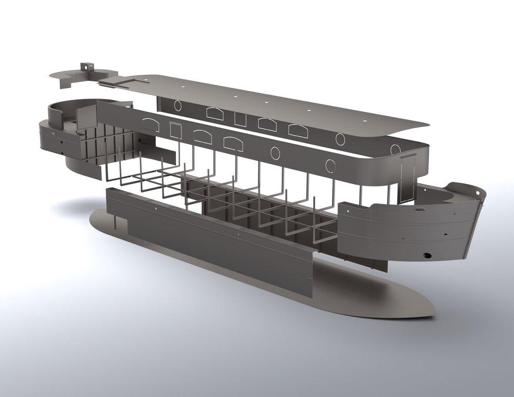 steel boat kits