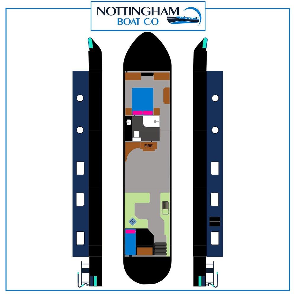 """Wide Beam - Galaxy 60ft x 12ft 6"""" - 2 bedrooms"""