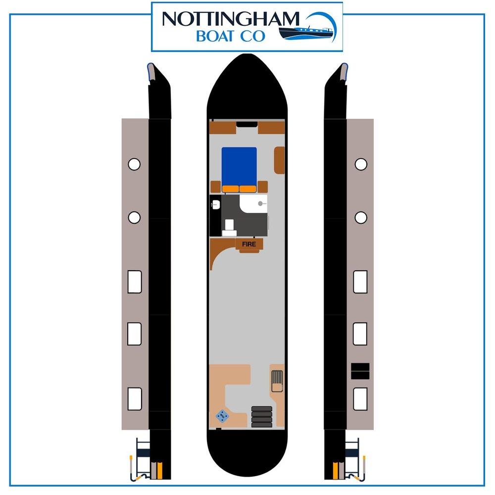 """Wide Beam - Galaxy 60ft x 12ft 6"""" - 1 bedroom"""