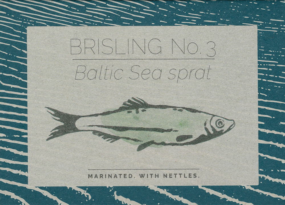 Baltic Sea sprat no. 3. Marinated. With nettles