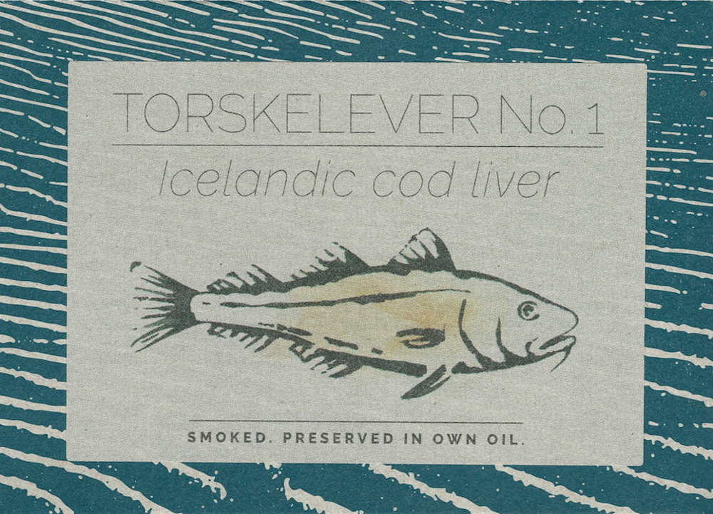 Icelandic smoked cod liver Smoked. Preserved in own oil