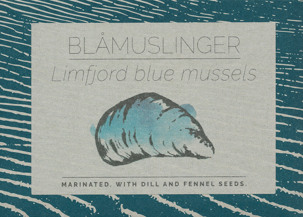 Blue mussels from Limfjorden Marinated. With dill and fennel seeds.