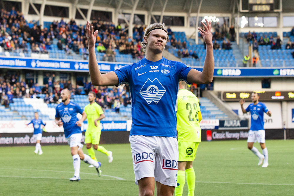 Erling Braut Håland er en av flere spillere som kan få pris. Foto: Svein Ove Ekornesvåg / NTB Scanpix