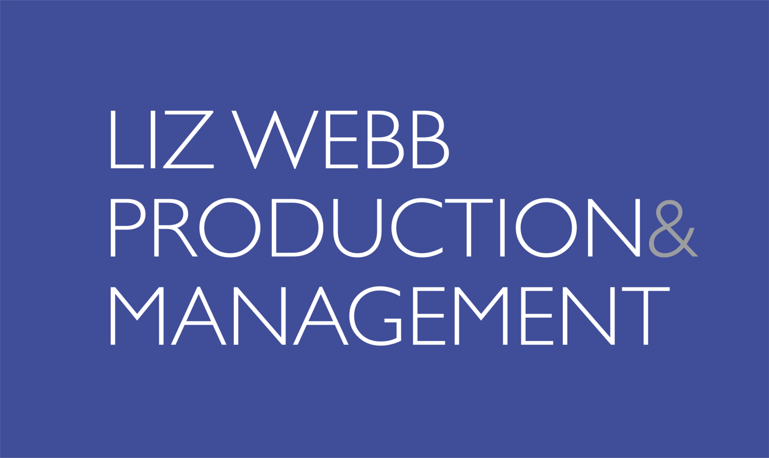 Liz Webb Production and Management