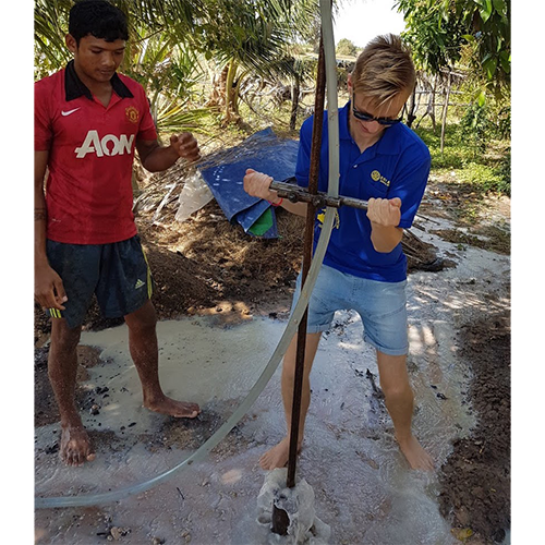 """Helping the people of Cambodia was a real eye opening and humbling experience for me. It made me really appreciate my life.Teaching English and interacting with the children was a real highlight for me. I cannot wait to go back in the future and help some more!"" - Kynon 18"