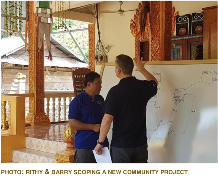 PHOTO: RITHY & BARRY SCOPING A NEW COMMUNITY PROJECT