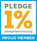 Pledge 1% proud member icon