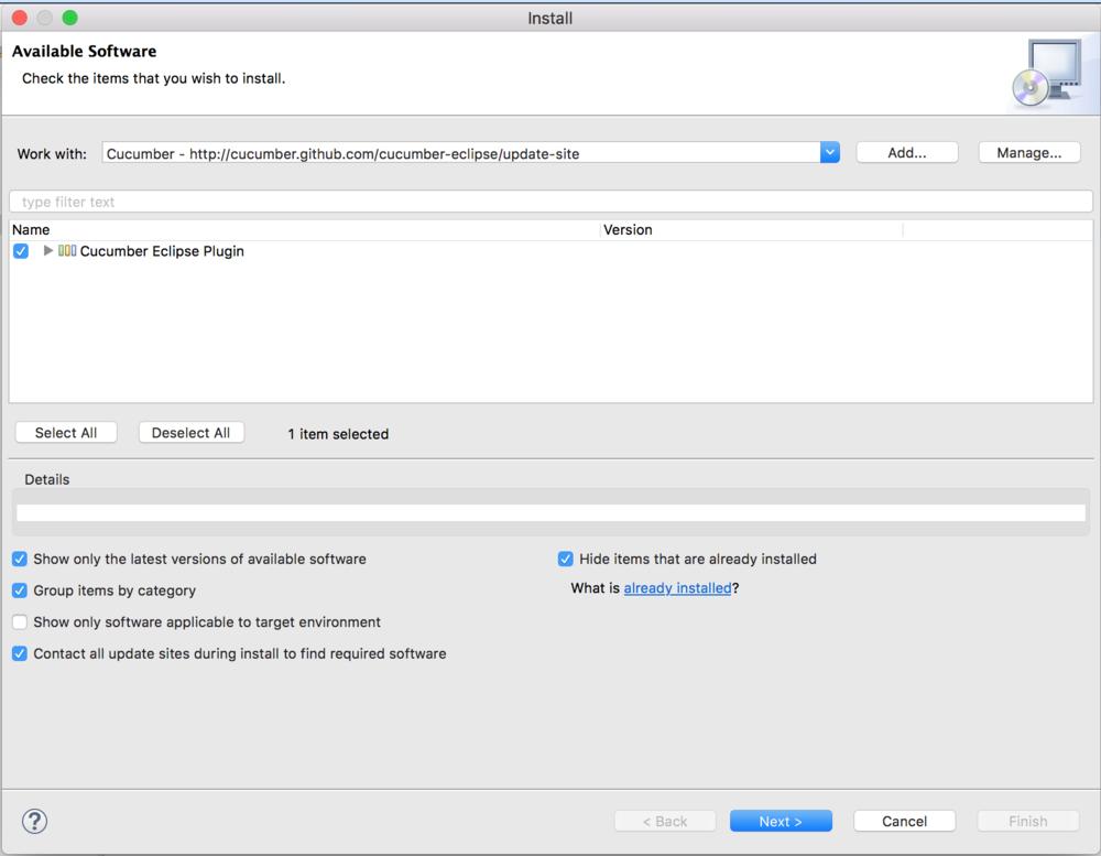 Cucumber Eclipse Plugin screenshot - cucumber jvm tutorial