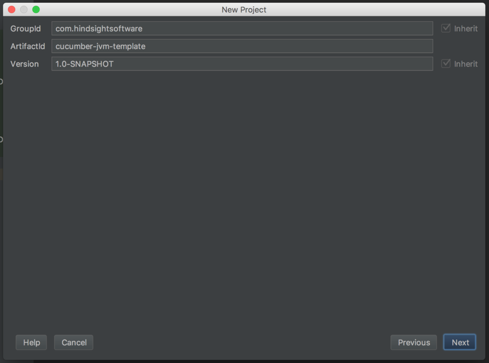 New project, fill in Maven project details screenshot