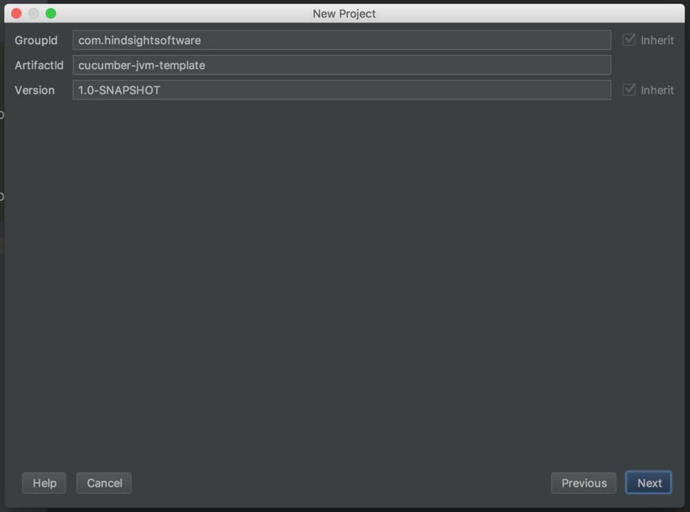 New project, fill in Maven project details screenshot - cucumber testing java - cucumber java