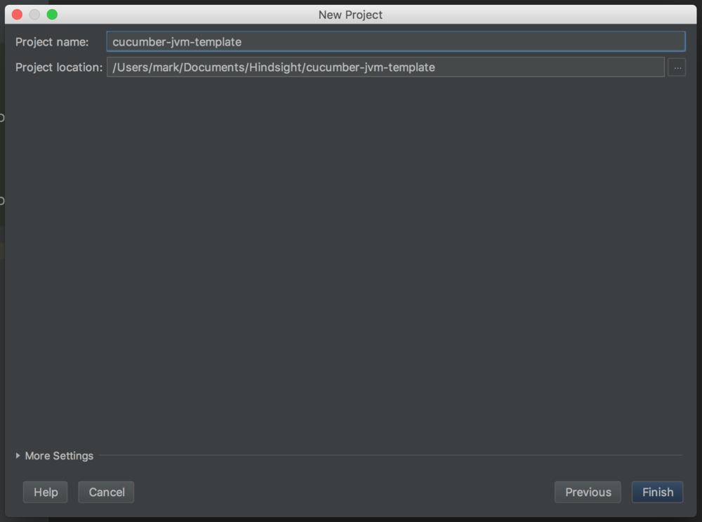 Finish project screenshot