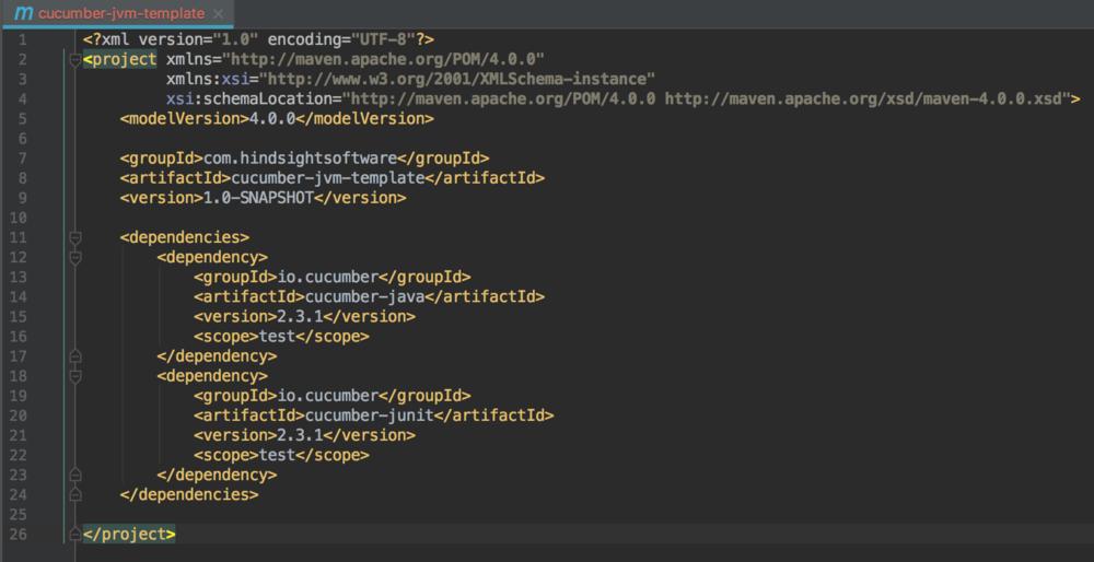 cucumber jvm template screenshot