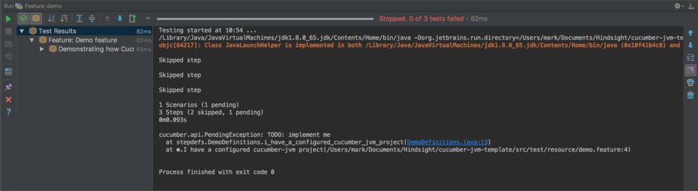 0 of 3 tests failed screenshots - cucumber testing java - cucumber java