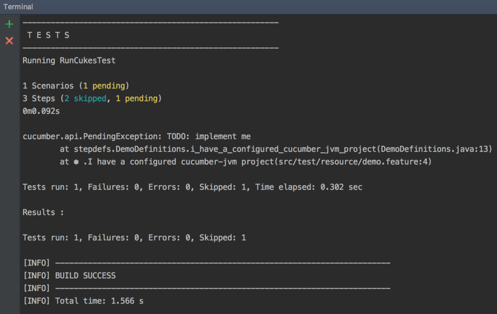 TESTS terminal screenshot