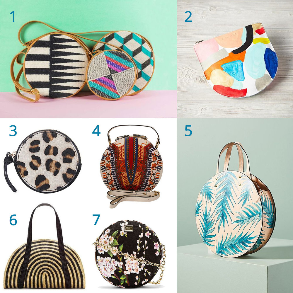 1:  geometric gems  / 2: abstract art /  3: go wild  /  4: tribal traditional  /  5: tropical-inspired  / 6: stripes are always in / 7: feminine floral