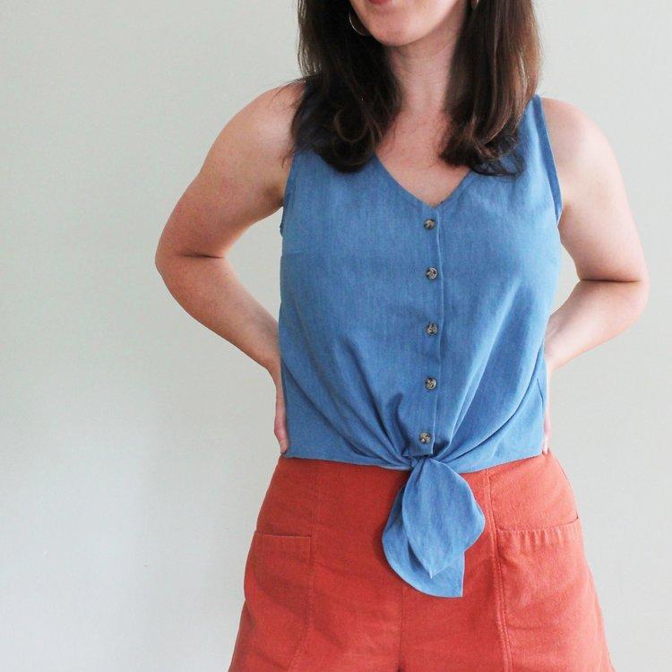 Hana Tank + Dress - PDF SEWING PATTERN