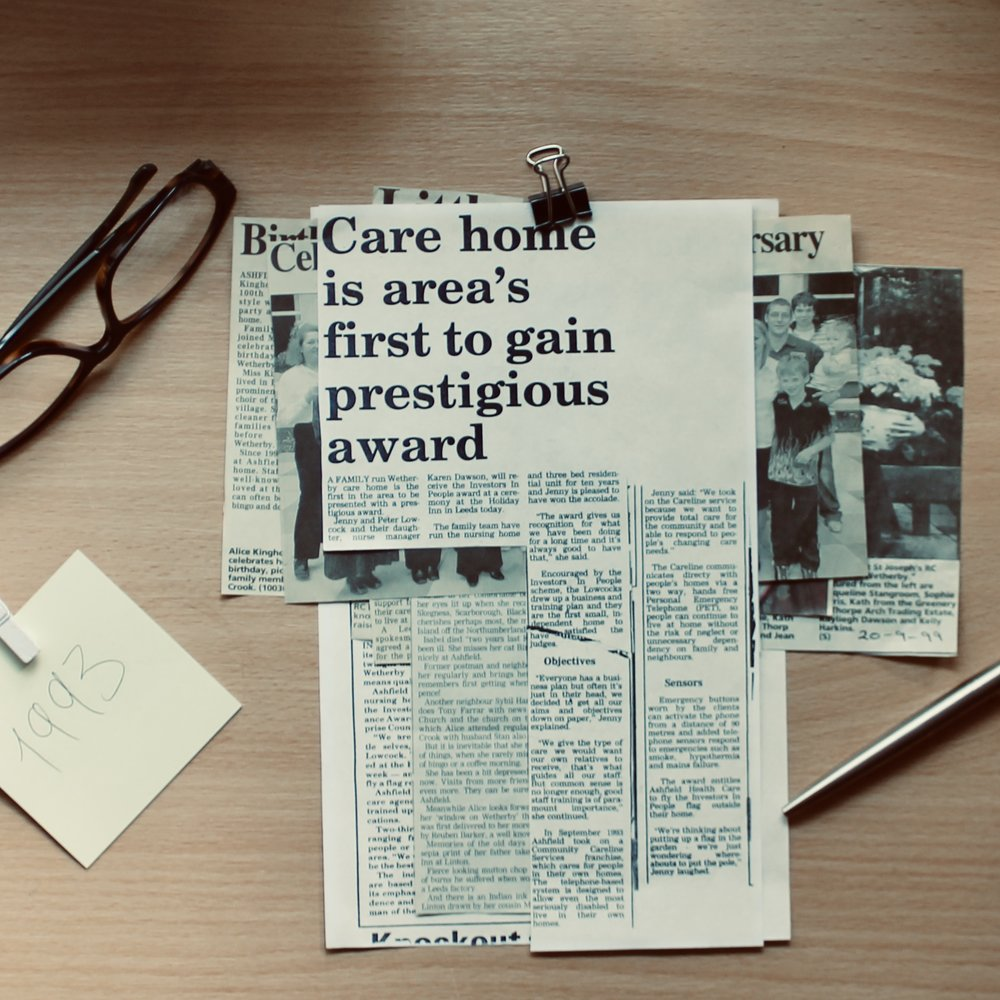 """Care home is area's first to gain prestigious award"""