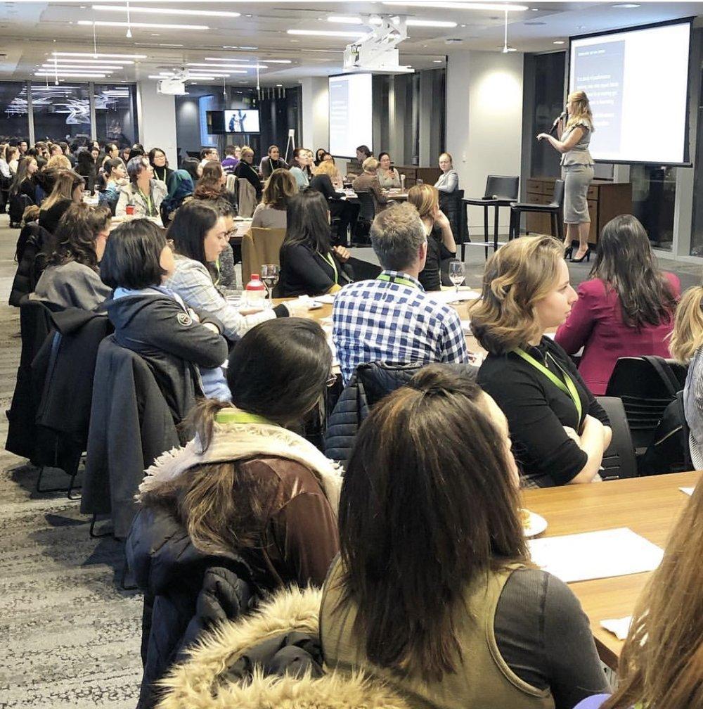 bias training at LeAn iN CANADA (Toronto) on international women's day -