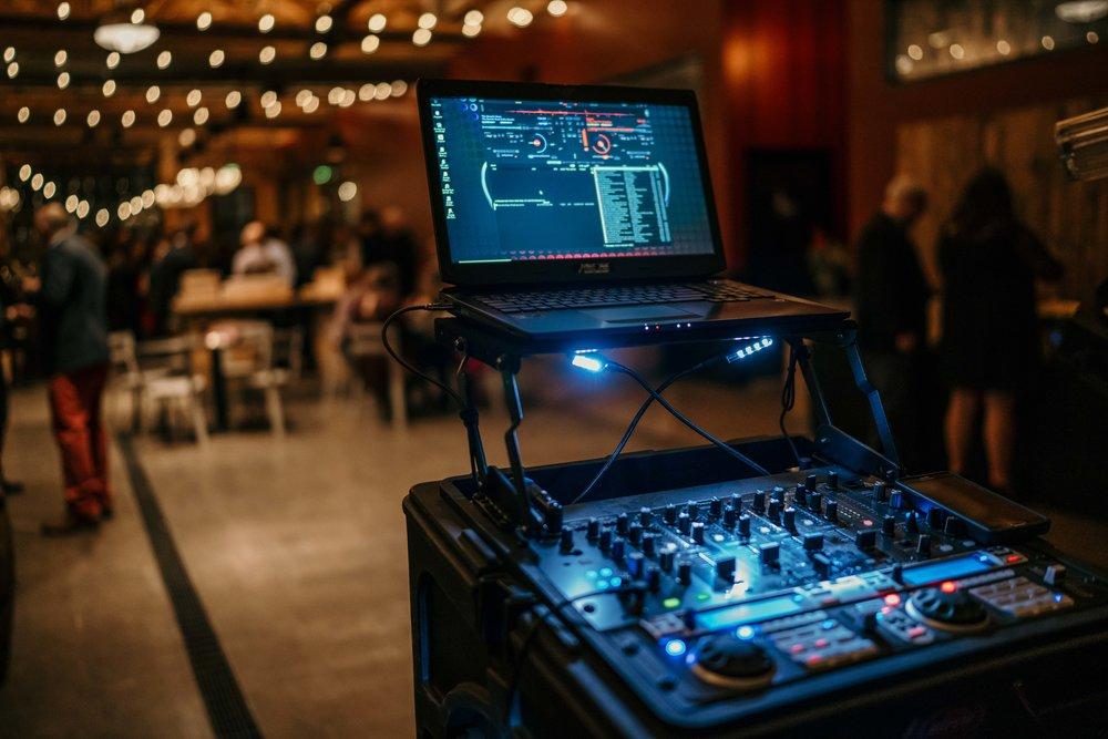 The DJ setup