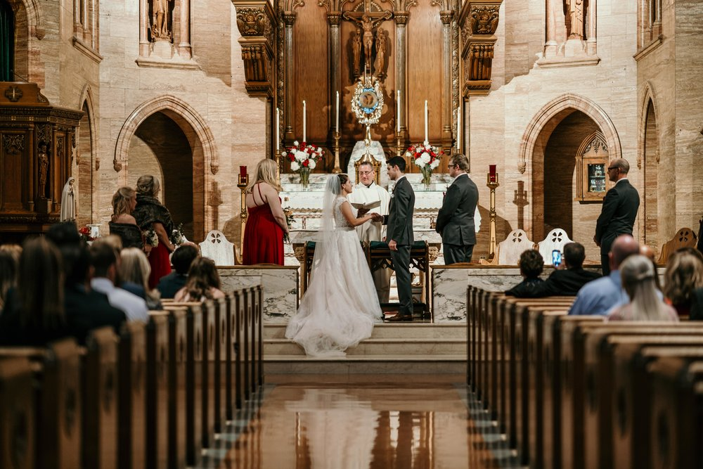 denver wedding at holy ghost church down the aisle