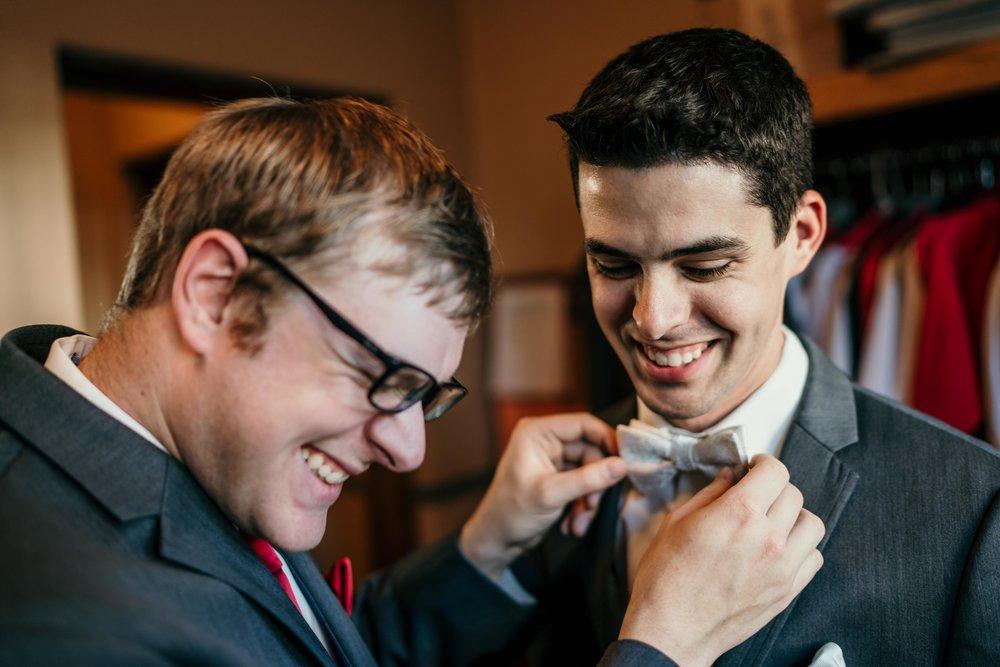 denver wedding at holy ghost church groomsmen getting ready