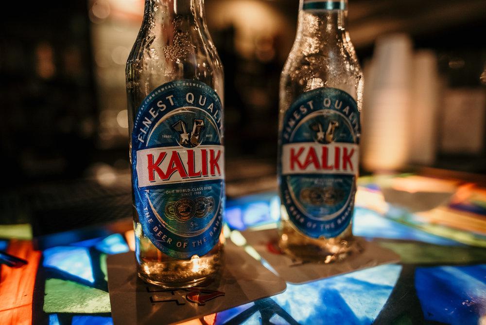 Kalik is the local Bahamian beer!