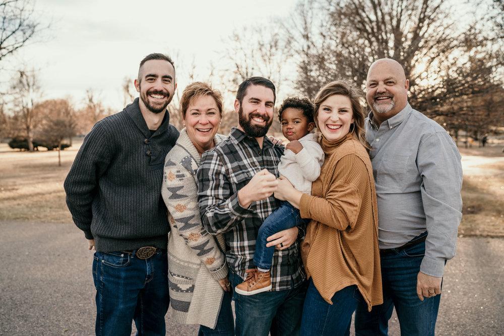denver family photographers at city park group photo