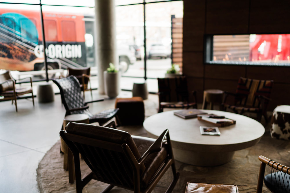 denver commercial photographer tim gillies photography origin hotel red rocks front lobby