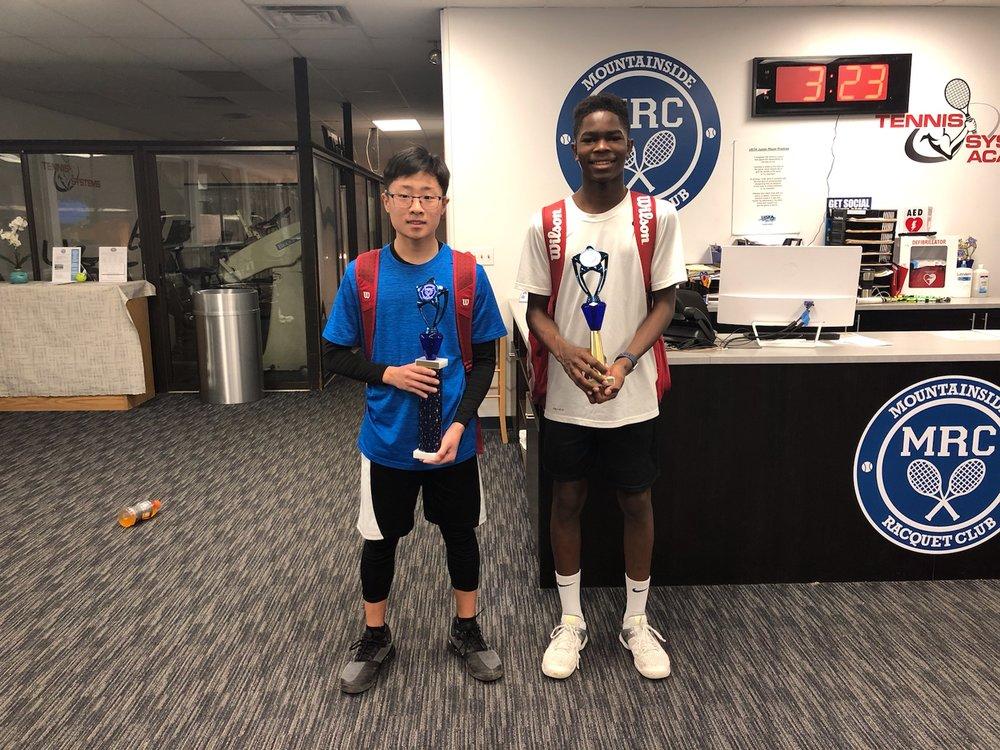 Jacob Rha. Boys 14s Champion. Mountainside Racquet Club March Classic. March 2019.