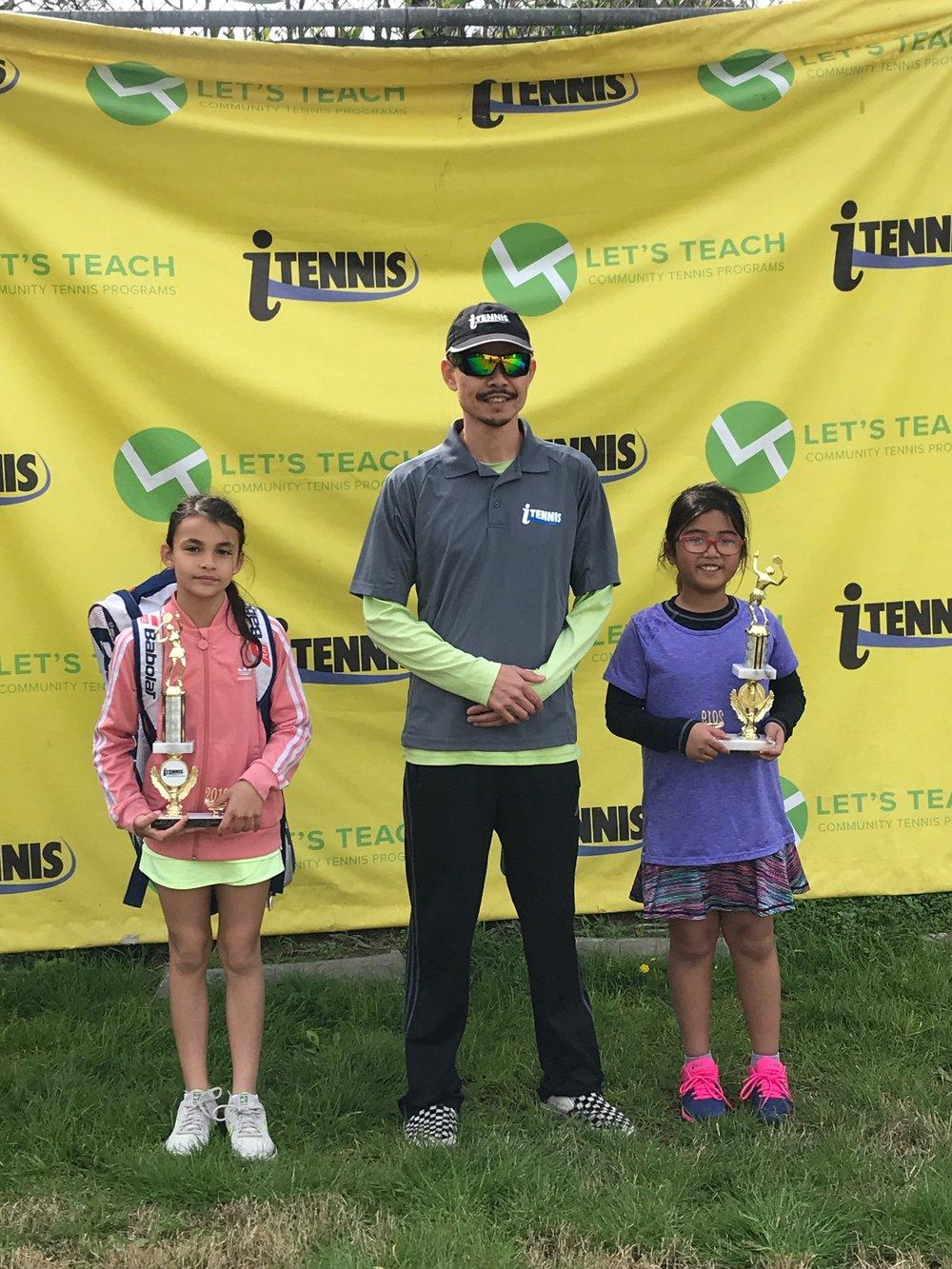 Kamila Peralta. Girls 10s Champion. Whittier Narrows Tennis Center. March 2019.