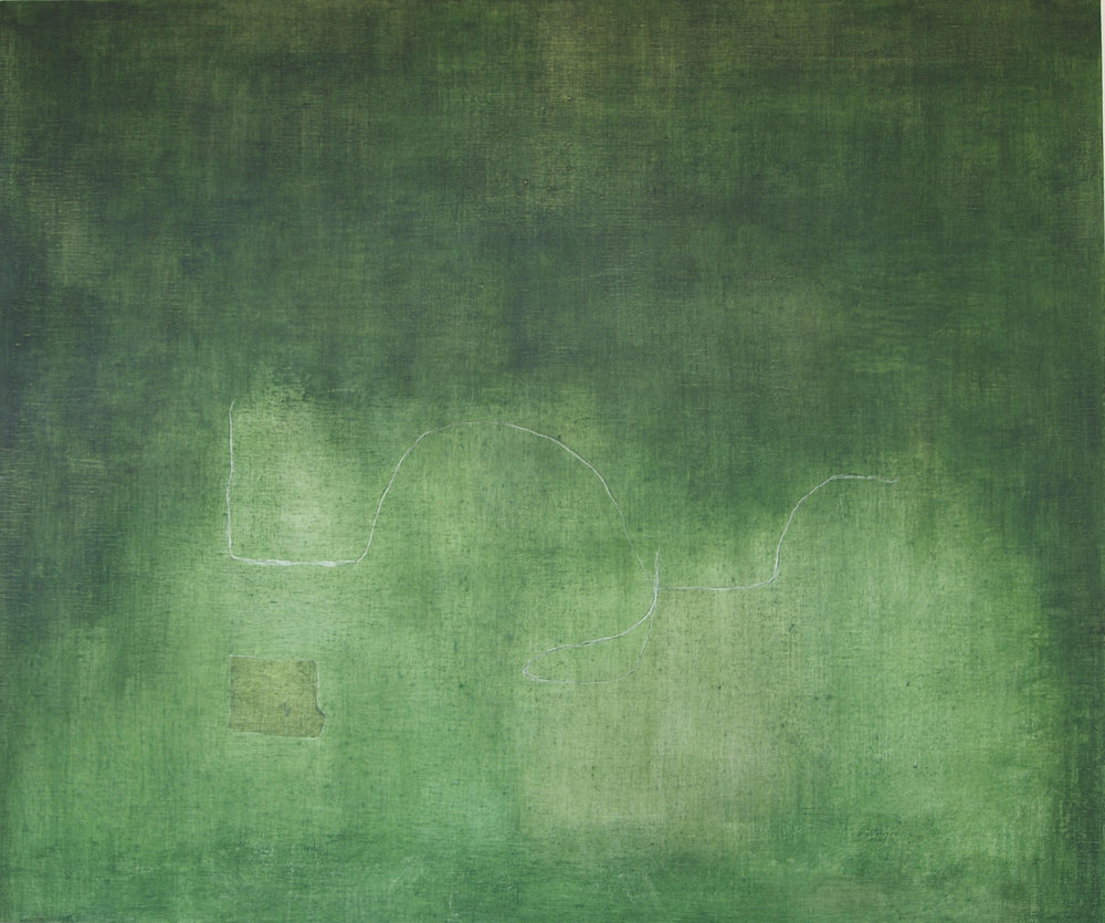 "Through the Green Fuse, 2013, Oil on Canvas, 30"" x 36"".jpg"