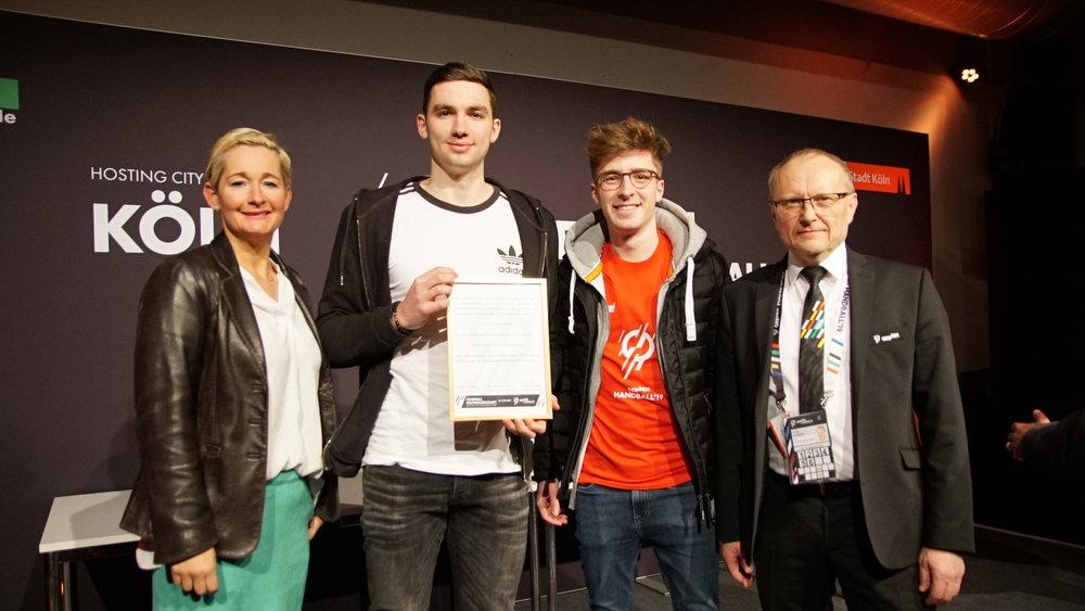 Bester Film aus NRW - ausgezeichnet vom Handballverband Mittelrhein e.V. und der Stadt Köln