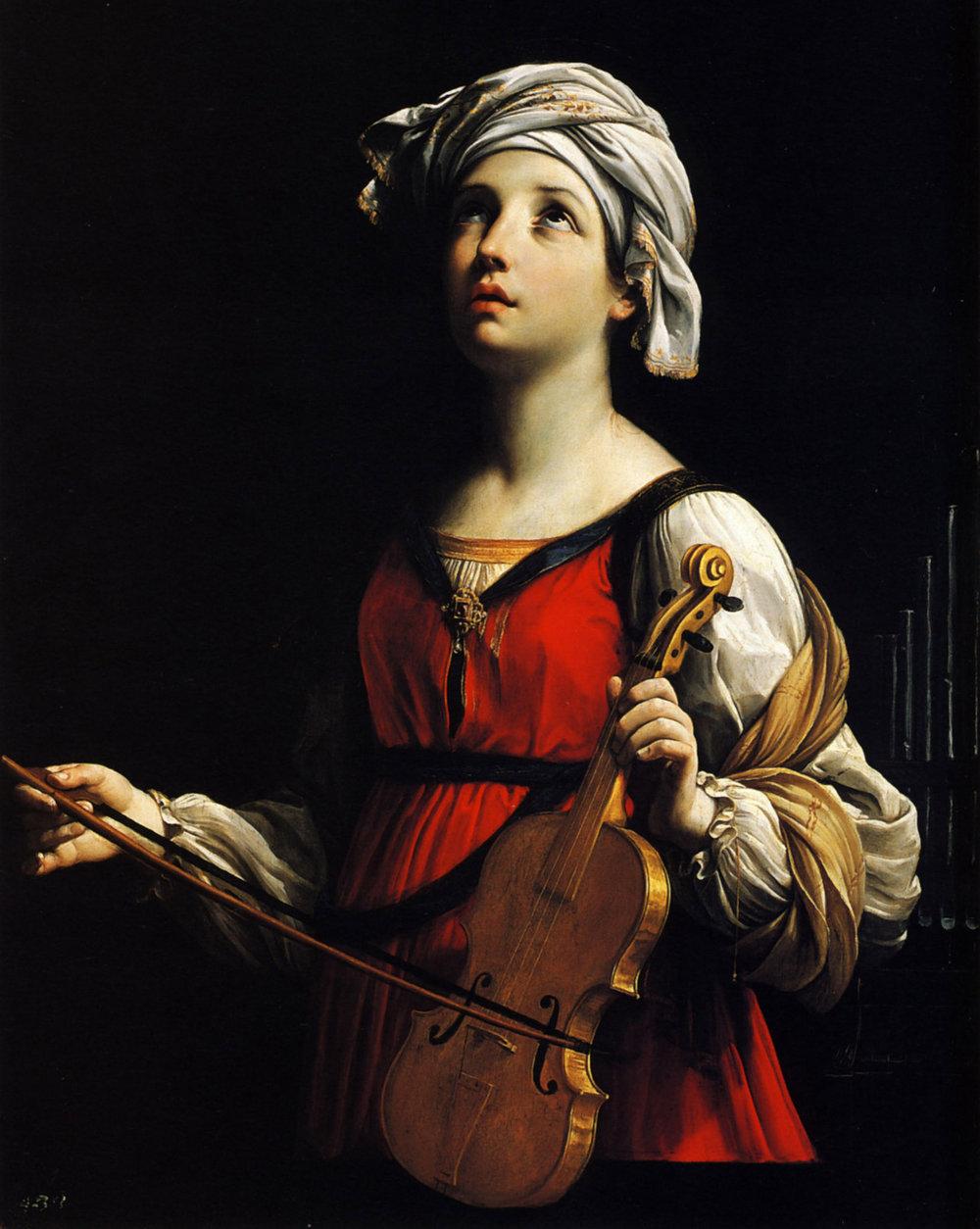 St. Cecilia  by Guido Reni