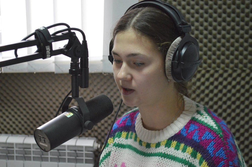 Yaroslava Drutsa (Ostroh) interned at MediaPort online newspaper in Kharkiv
