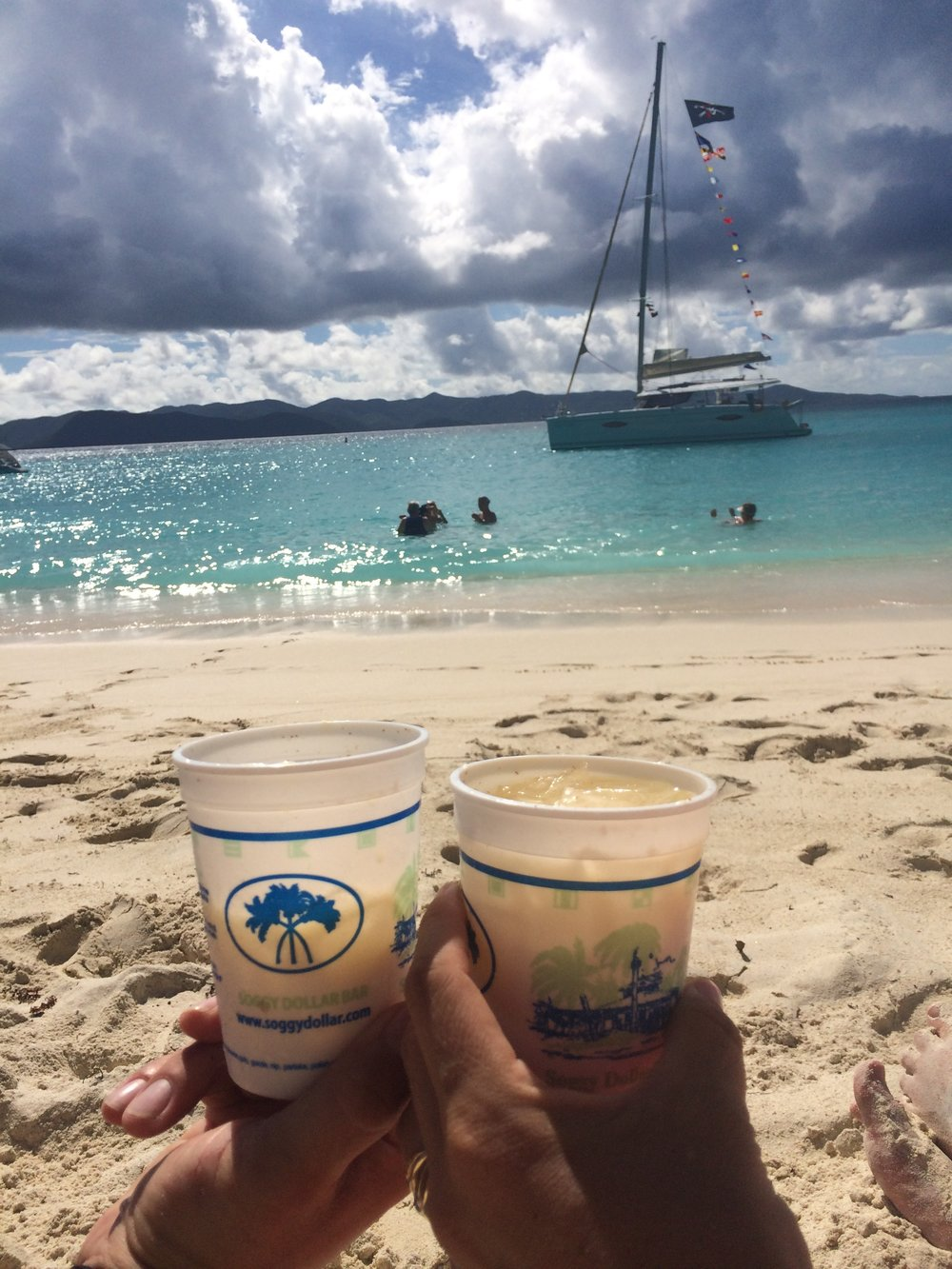 """""""By far the best destination in the BVI. The most crystal clear water I've ever seen. It was such a great first day of vacation, we booked again before we left!"""" - -Jamie and Jeremy M."""