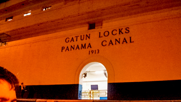 Panama Canal, midnight. 2008