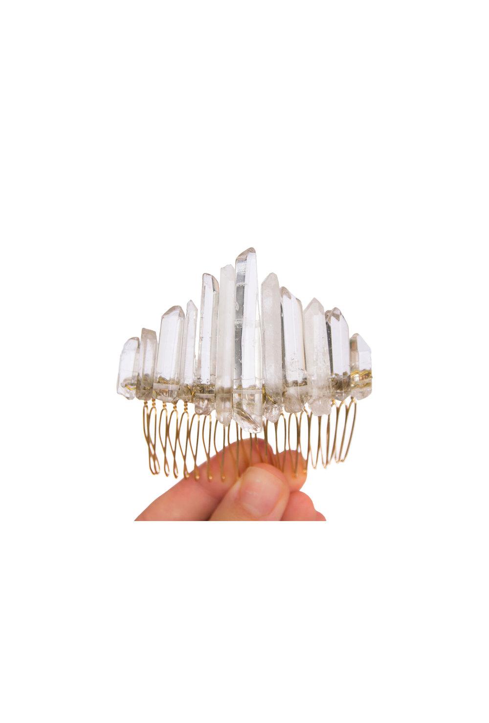 Long Quartz Crystal Comb
