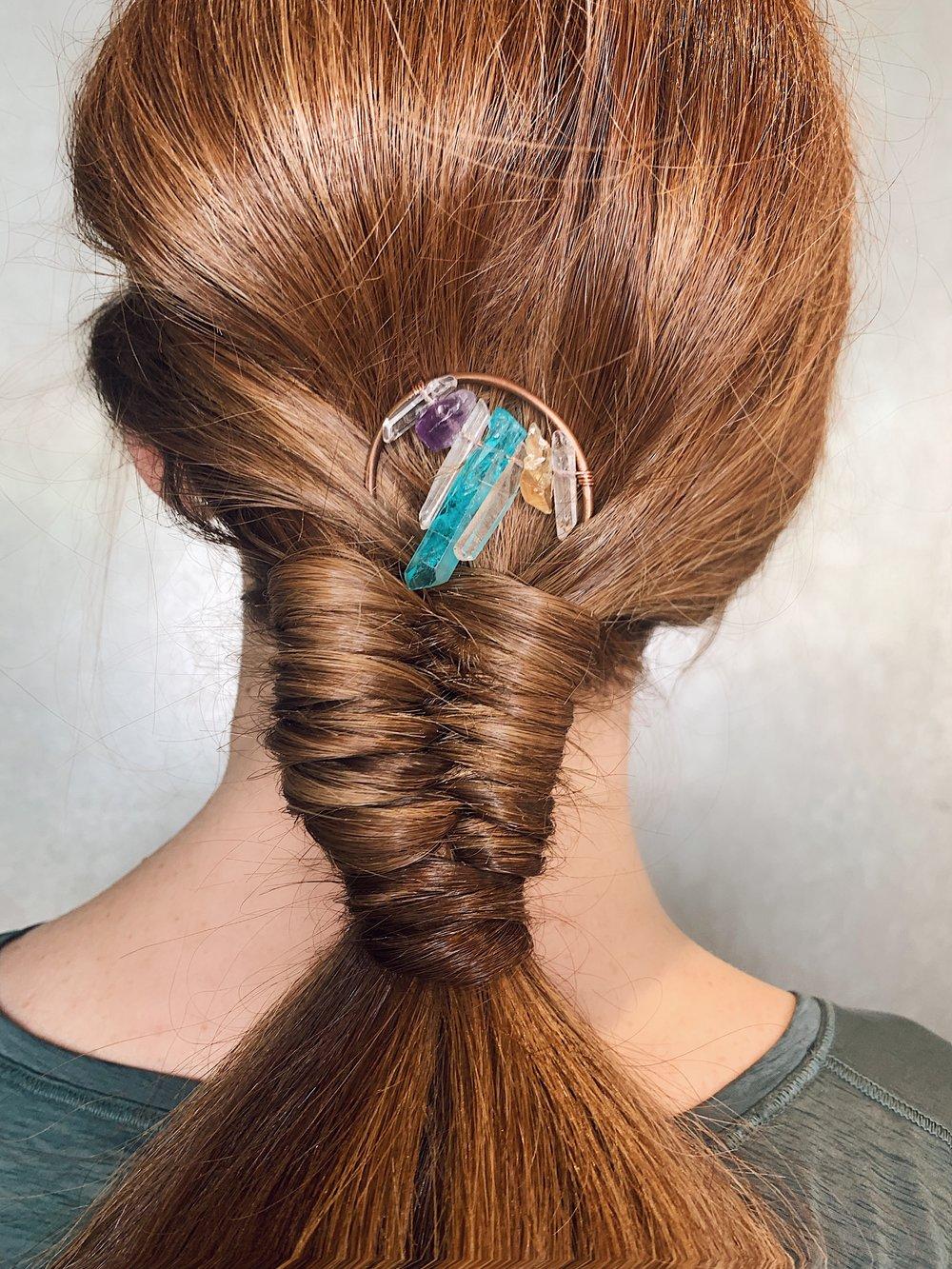 Rainbow Crystal Hair Stick