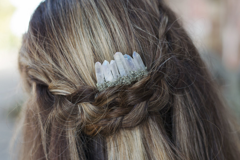 Angel Aura Pyrite Comb
