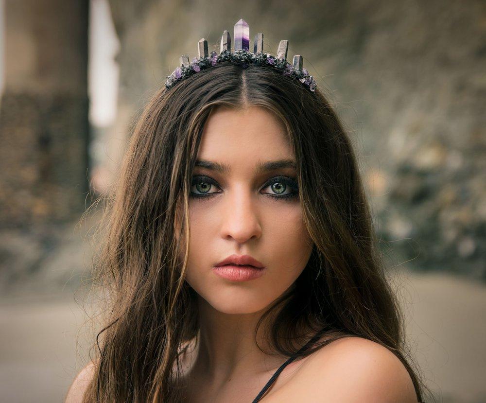 Fluorite High Priestess Crown