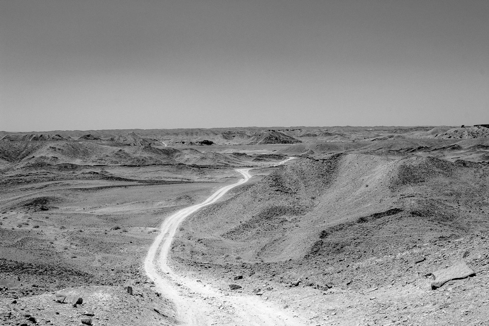 One of the hundreds of desert routes for Afghan refugees. August 2017.