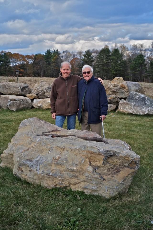 John and John, after a hike up the mountain, 2013 © Jim Hughes
