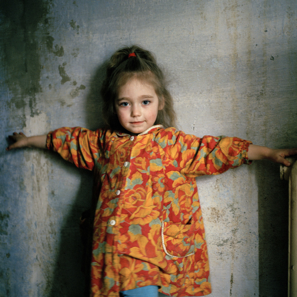Masha, 6 years old, was infected with HIV through mother to child transmission at birth. Odesa, Ukraine, 2007