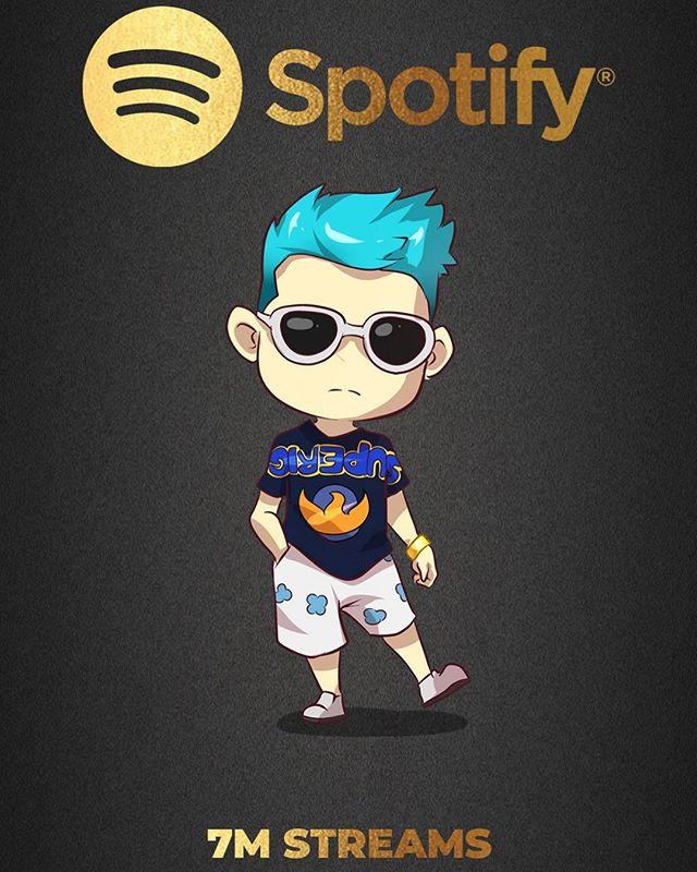 7 Million Streams on @Spotify 🏆 thank you 🥶💙 #Spotify #JackEL
