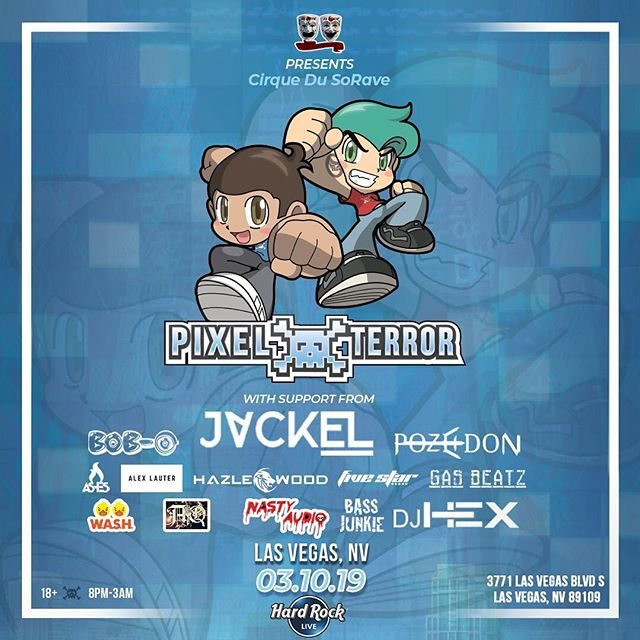 Starting off my tour in LAS VEGAS 🎰  March 10 w @pixelterrorbass & myself 🥶💙 + more epic music 🎶  @ Hard Rock on Las Vegas strip Ticket link in BIO 🎫  #LasVegas #Rave #EDM #PixelTerror #JackEL